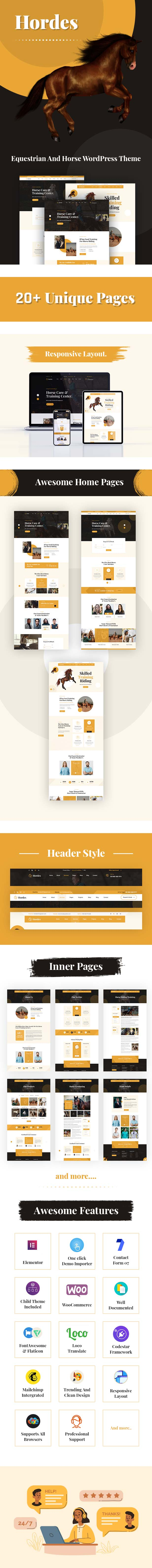 Hordes - Equestrian And Horse WordPress Theme - 3
